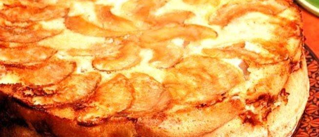 Шарлотка с тертым яблоками рецепт с пошагово в духовке