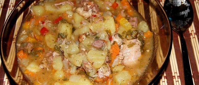 Тушёная картошка с мясом в кастрюле пошаговый рецепт с фото пошагово