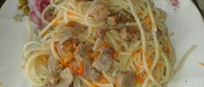 Макароны со свининой рецепт с фото в мультиварке