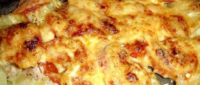 Картошка по-французски с курицей в духовке пошаговый рецепт с фото
