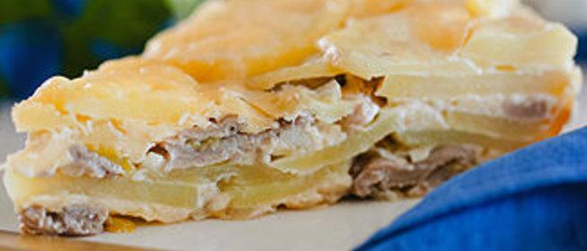 Картофельная запеканка с вешенками рецепт с фото