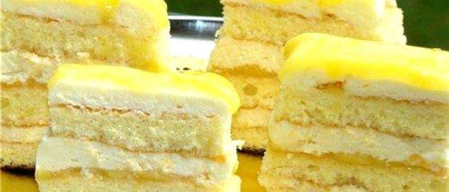 Рецепт вкусного лимонного торта