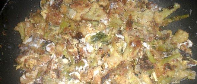 Жареная цветная капуста с луком рецепты
