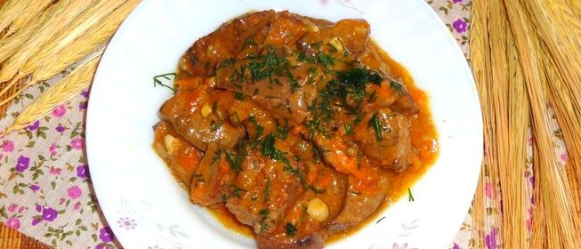 Тушеная куриная печень в сметане рецепты с пошагово