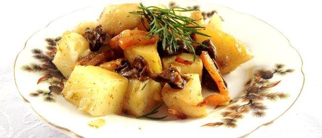 Картофель с сушеными грибами рецепт с пошагово