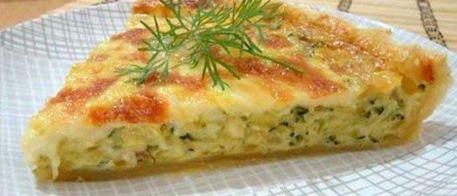 кабачковый пирог рецепт с фото пошагово