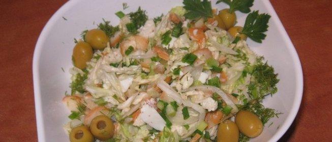 Рецепт салата с копченым сыром