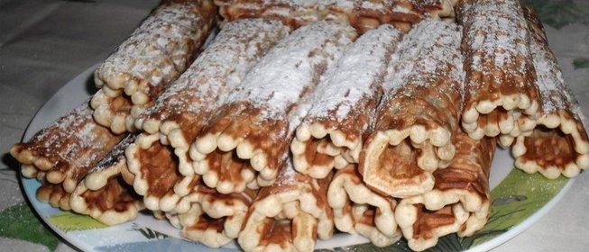 вафельные трубочки пошаговый рецепт с фото