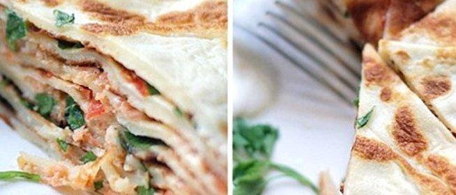 Блинный пирог с помидорами и сыром рецепт пошагово с
