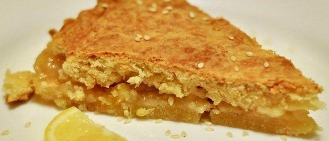 Песочный пирог с лимонной начинкой рецепт с