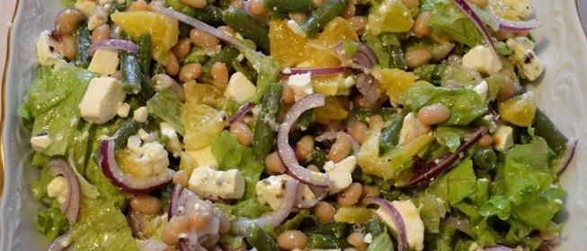 Салат фасолевый рецепт с пошагово