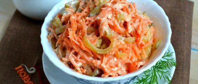 Пошаговые рецепты салатов корейски фото