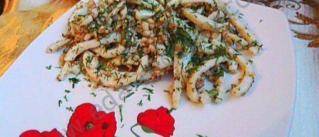 Салат из кальмаров пошаговый рецепт с