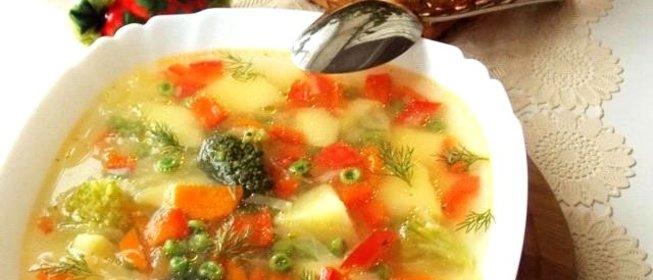 Суп овощной пошагово