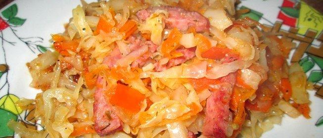 Капуста жареная рецепт пошагово с в