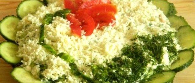 Быстрый салат слоями рецепт