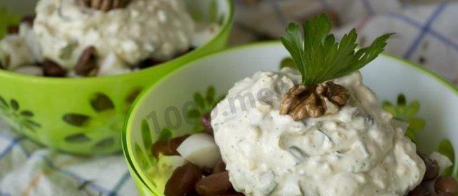 Салат из фасоли вареной