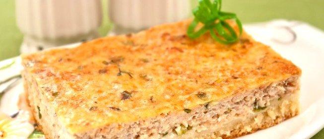 Рыбный пирог с сайрой и рисом рецепт