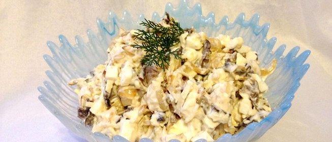 Как приготовить салат из сухих грибов фото рецепт