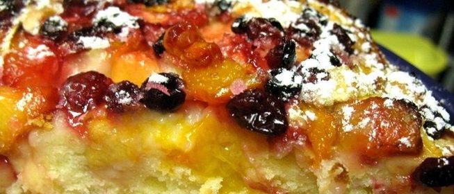 Фруктовый пирог в духовке рецепт с фото