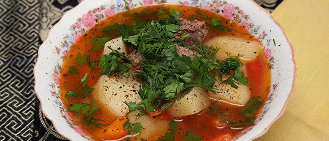 Узбекский суп из баранины рецепт