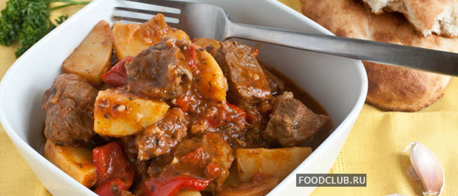 Рецепт баранины тушеной с картошкой с фото