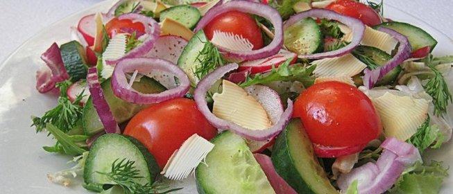 Рецепт салата из сырых овощей с