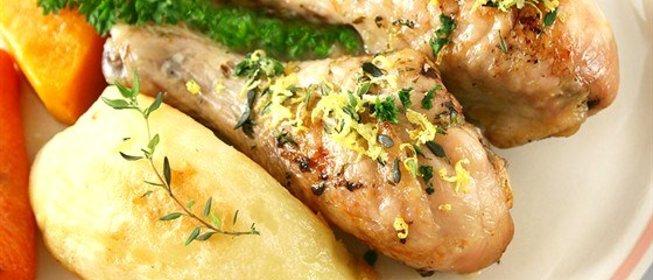 Голени с грибами в духовке рецепт