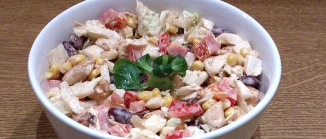 Мясной салат с болгарским перцем рецепты с