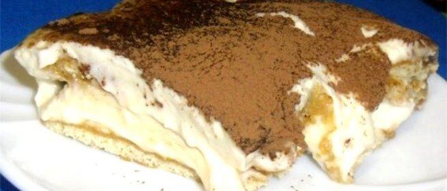 Пошаговый Рецепт тирамису без сыра с фото