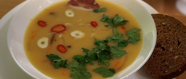 гороховый суп с грудинкой рецепт с фото