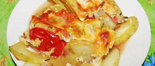Кабачки с картошкой на сковороде фото рецепт