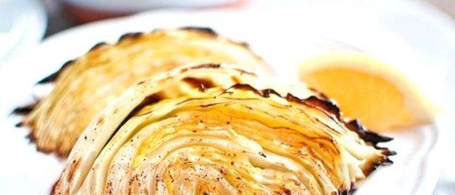 запеченная белокочанная капуста в духовке
