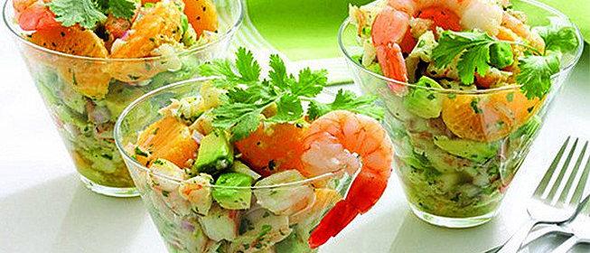 диетический салат с креветками рецепт с фото