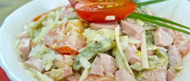Салаты с фасолью спаржевой рецепты простые и вкусные