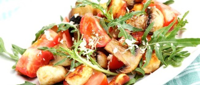 салат с курицей и шампиньонами фото рецепт