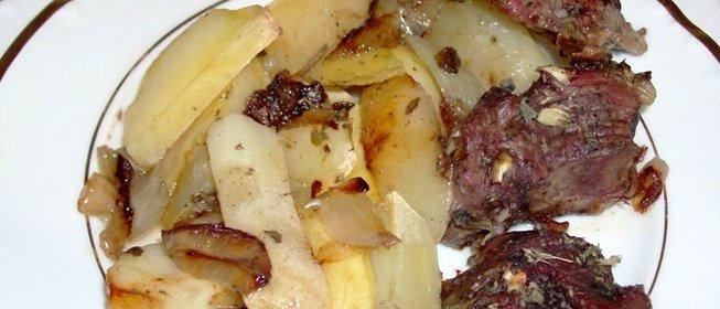 Баранина с картошкой рецепт с фото