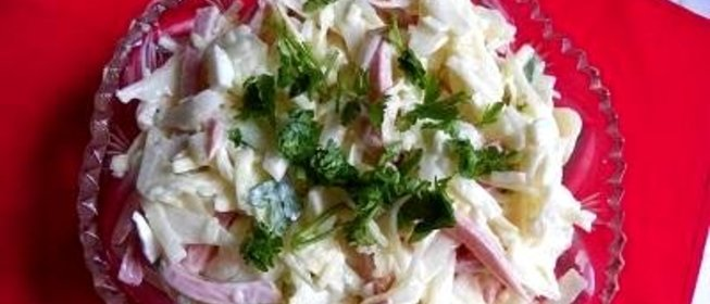 Салат из соленой капусты рецепт с фото