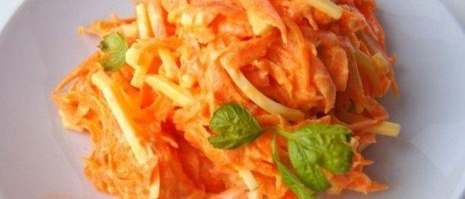 Салат морковка пошаговый рецепт с
