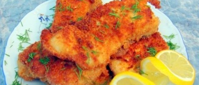Жарим рыбу в панировочных сухарях рецепт