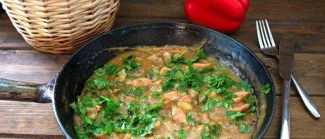 Подливка из сосисок рецепты с фото