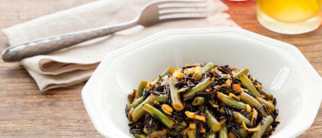 Зеленая фасоль с рисом