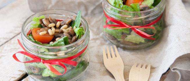 Рецепт салата с грибами и с маслом с