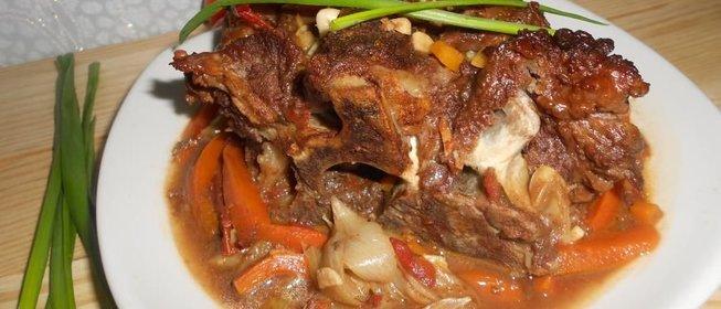 Тушеная говядина пошаговый рецепт с фото