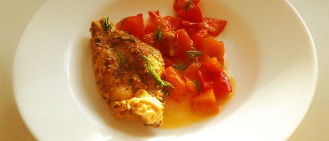 Курица с болгарским перцем с фото пошагово