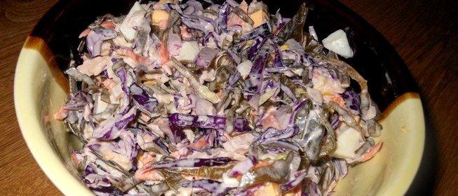 Салат из свежей морской капусты рецепт с очень вкусный