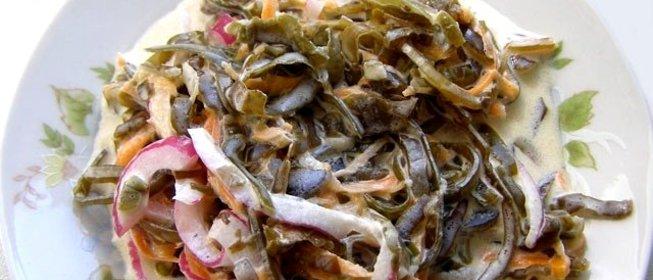 салаты из морской капусты вкусные