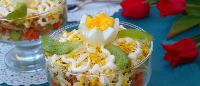 Вкусный салат с курицей и киви рецепт с