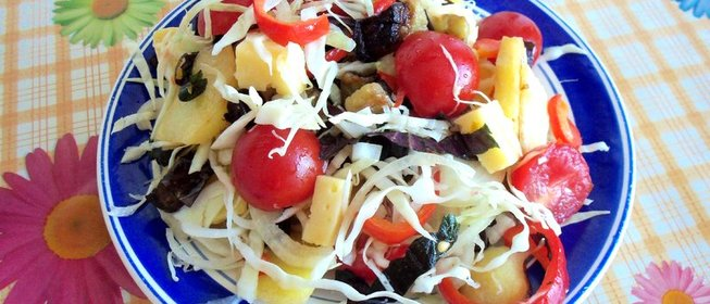 Рецепты с фото теплых салатов