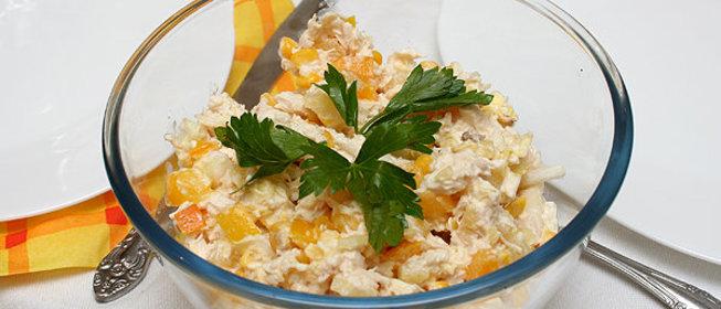 Салат с ананасом куриной грудкой и пекинской капустой рецепт с